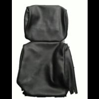 thumb-Garniture pour repose-tête (2 pièces modèle étroit) simili noir Citroën ID/DS-1