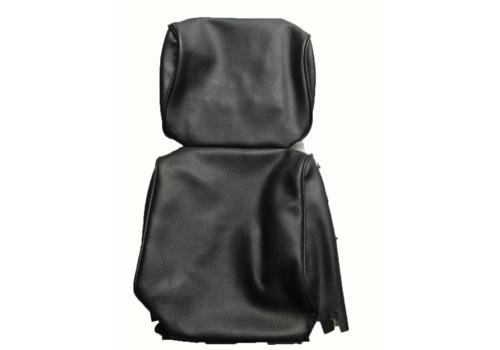 Head rest cover with black leatherette trimming narrow model 2 pieces Citroën ID/DS