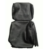 thumb-Head rest cover with black leatherette trimming narrow model 2 pieces Citroën ID/DS-2