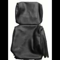thumb-Garniture pour repose-tête (2 pièces modèle étroit) simili noir Citroën ID/DS-4