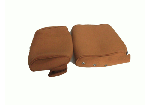 Head rest cover with gold cloth trimming narrow model 2 pieces Citroën ID/DS