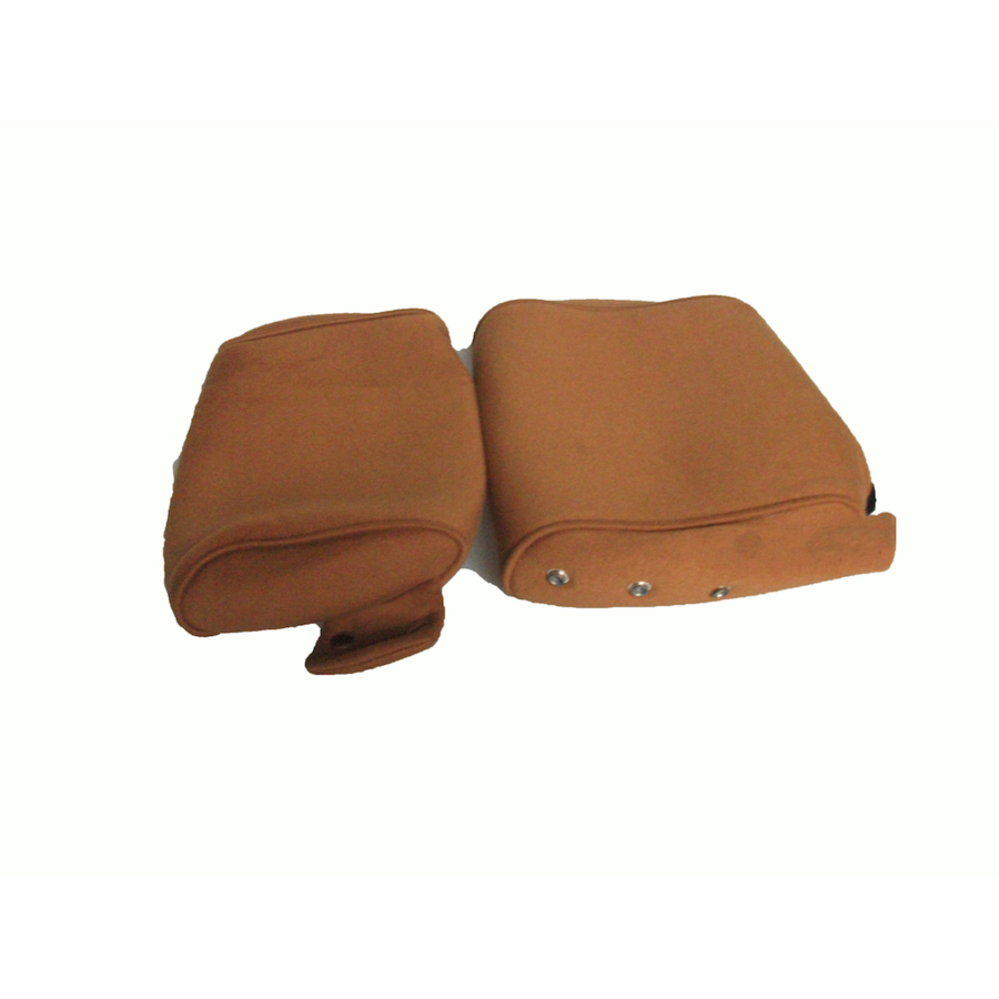 Head rest cover with gold cloth trimming narrow model 2 pieces Citroën ID/DS-1