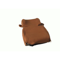 thumb-Head rest cover with gold cloth trimming narrow model 2 pieces Citroën ID/DS-2