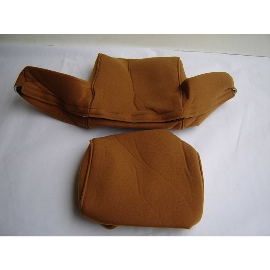 Head rest cover with gold cloth trimming wide model 2 pieces Citroën ID/DS-2