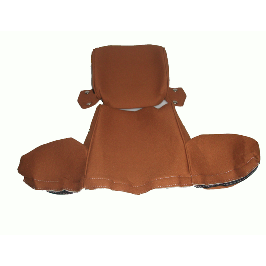 Head rest cover with gold cloth trimming wide model 2 pieces Citroën ID/DS-3