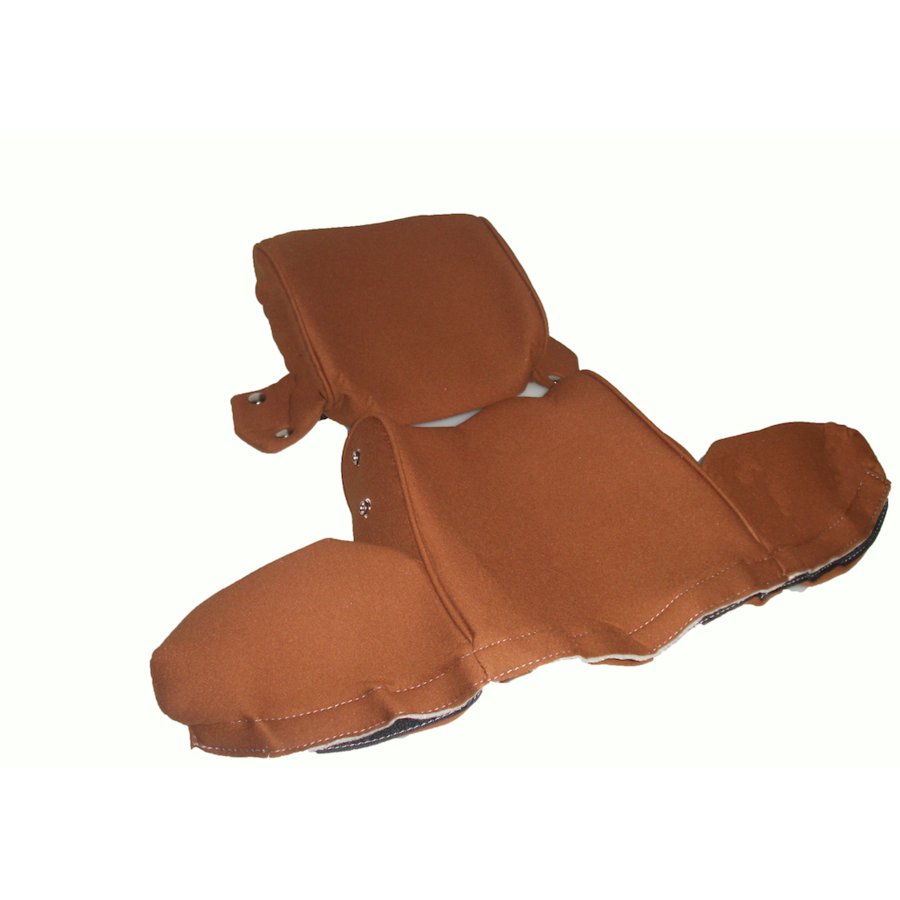 Head rest cover with gold cloth trimming wide model 2 pieces Citroën ID/DS-6