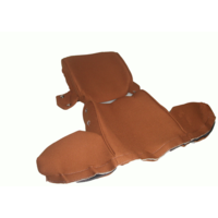 thumb-Head rest cover with gold cloth trimming wide model 2 pieces Citroën ID/DS-7