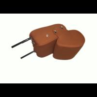 thumb-Kopfstütze (2 teilig) Stoff karamell schmales Modell Citroën ID/DS-8