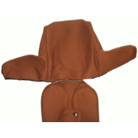 thumb-Head rest cover with caramel trimming wide model 2 pieces Citroën ID/DS-2