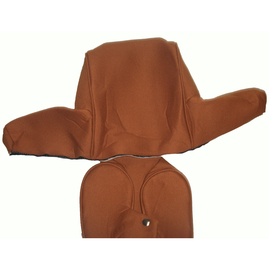 Head rest cover with caramel trimming wide model 2 pieces Citroën ID/DS-2