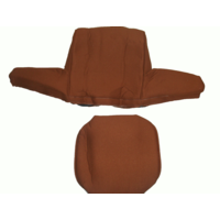 thumb-Head rest cover with caramel trimming wide model 2 pieces Citroën ID/DS-3
