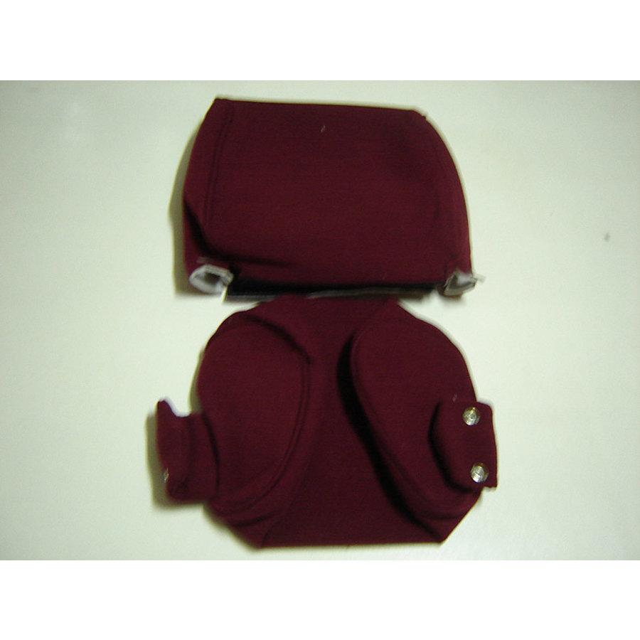Bezug für Kopfstütze (2 teilig) Stoff rot schmales Modell Citroën ID/DS-1