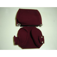 thumb-Head rest cover with red cloth trimming narrow model 2 pieces Citroën ID/DS-2