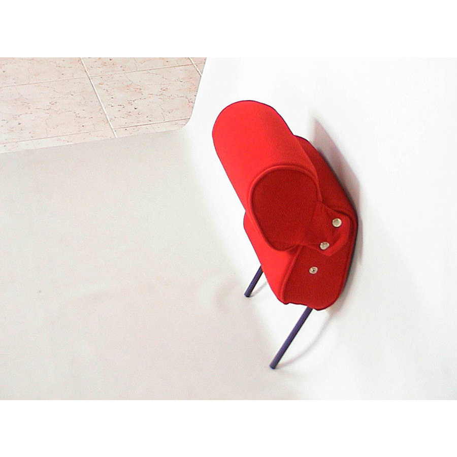 Repose-tête (2 pièces modèle étroit) étoffe rouge écarlate Citroën ID/DS-1