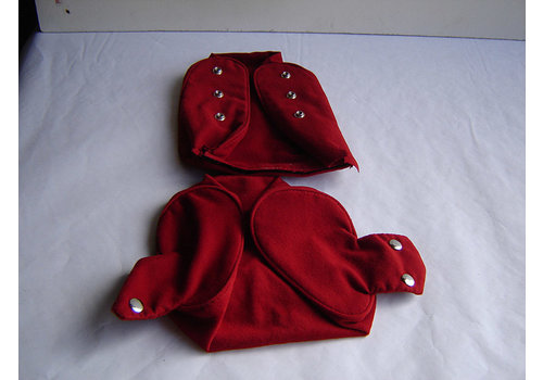 Head rest cover with bright red cloth trimming narrow model 2 pieces Citroën ID/DS