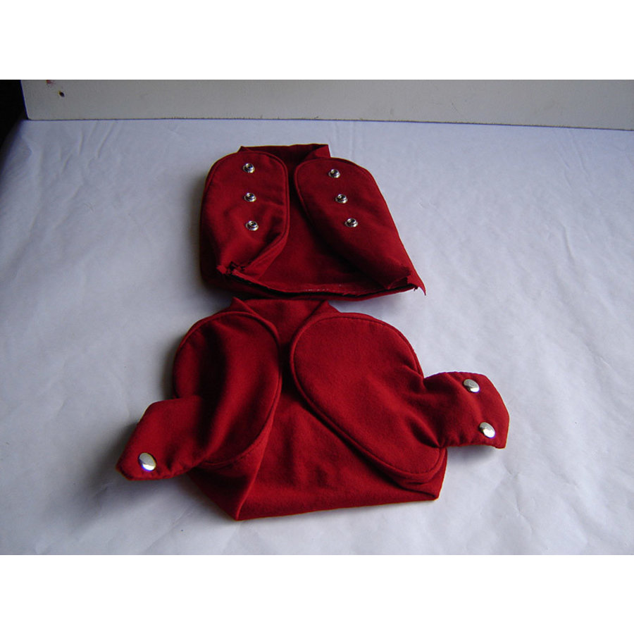 Head rest cover with bright red cloth trimming narrow model 2 pieces Citroën ID/DS-1