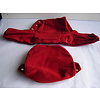 ID/DS Head rest cover with bright red 60->67cloth trimming wide model 2 pieces Citroën ID/DS