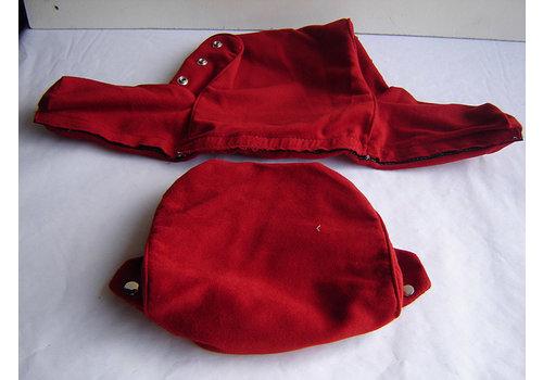 Garniture pour repose-tête (2 pièces modèle large) étoffe rouge écarlate 60-67 Citroën ID/DS