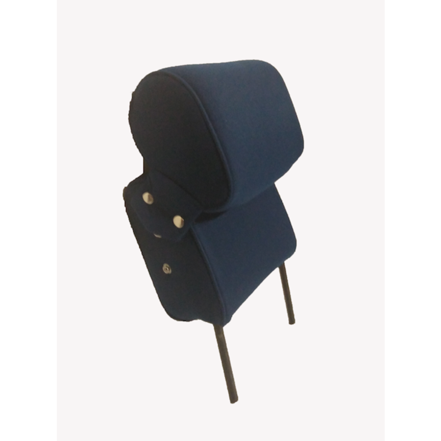 Head rest with blue cloth trimming narrow model 2 pieces Citroën ID/DS-5
