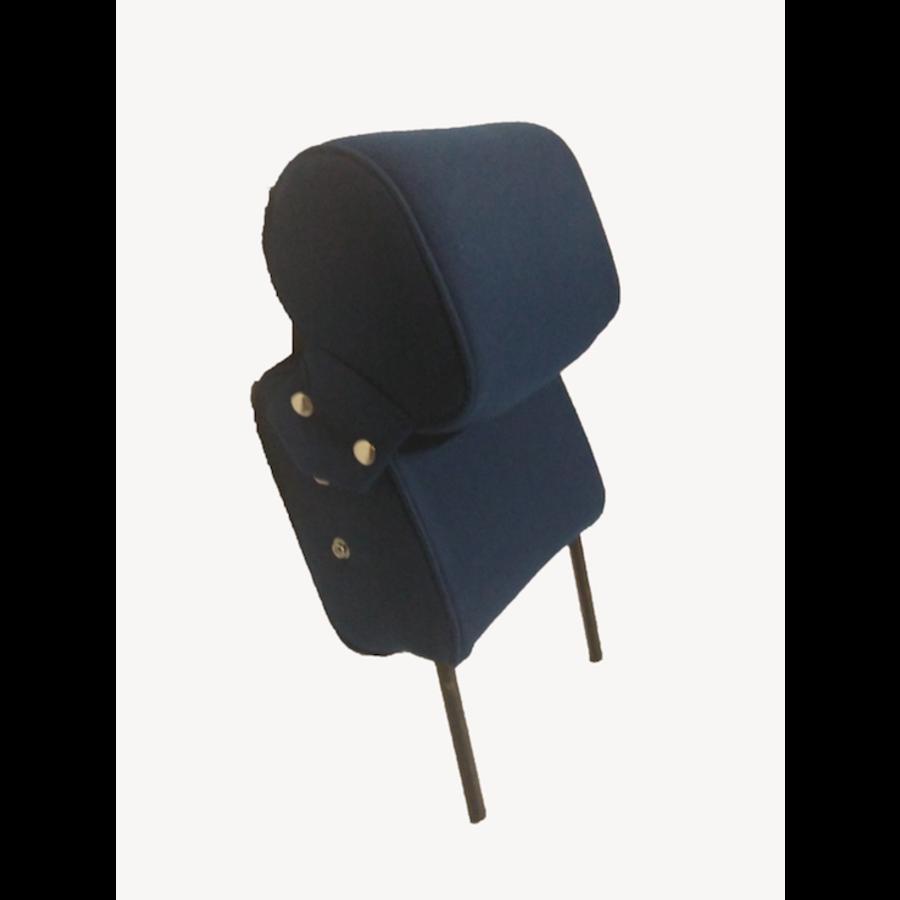 Kopfstütze (2 teilig) Stoff blau schmales Modell Citroën ID/DS-5