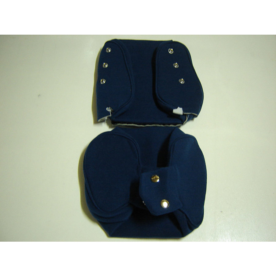 Head rest cover with blue cloth trimming narrow model 2 pieces Citroën ID/DS-1