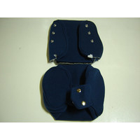 thumb-Head rest cover with blue cloth trimming narrow model 2 pieces Citroën ID/DS-2