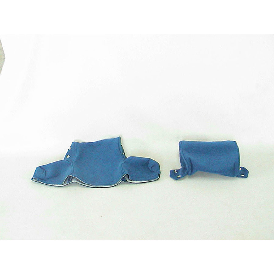 Head rest cover with blue cloth trimming wide model 2 pieces Citroën ID/DS-2