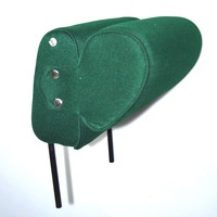 thumb-Head rest with green cloth trimming narrow model 2 pieces Citroën ID/DS-1