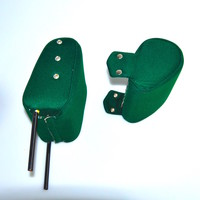 thumb-Head rest with green cloth trimming narrow model 2 pieces Citroën ID/DS-5