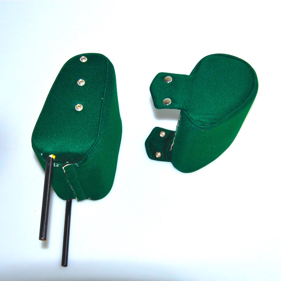 Head rest with green cloth trimming narrow model 2 pieces Citroën ID/DS-5
