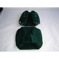 thumb-Head rest cover with green cloth trimming narrow model 2 pieces Citroën ID/DS-1