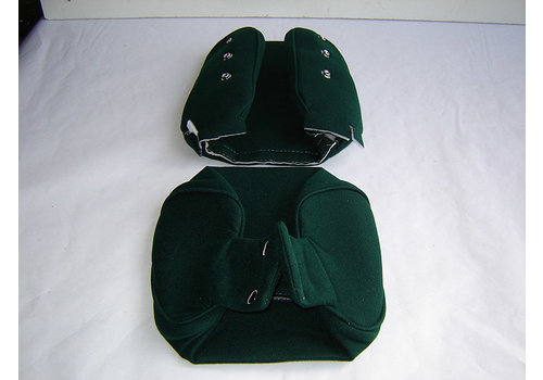Head rest cover with green cloth trimming narrow model 2 pieces Citroën ID/DS