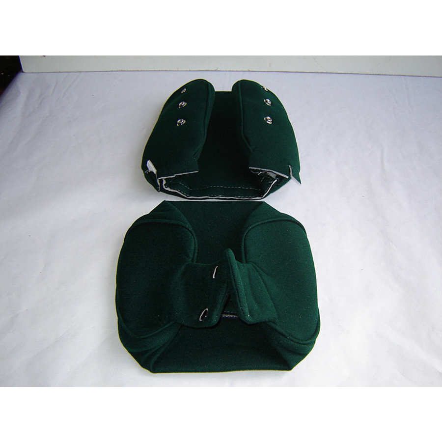 Head rest cover with green cloth trimming narrow model 2 pieces Citroën ID/DS-1