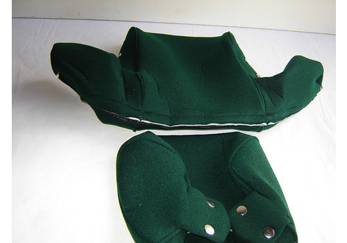 Head rest cover with green cloth trimming wide model 2 pieces Citroën ID/DS