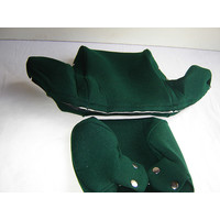 thumb-Head rest cover with green cloth trimming wide model 2 pieces Citroën ID/DS-2