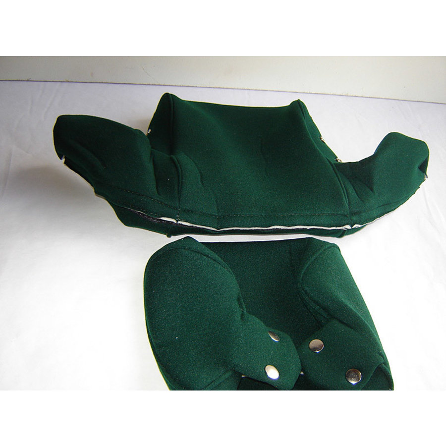 Head rest cover with green cloth trimming wide model 2 pieces Citroën ID/DS-2