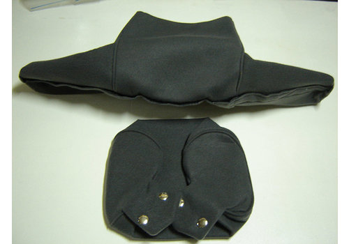 Head rest cover with gray cloth trimming wide model 2 pieces Citroën ID/DS