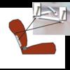 ID/DS Seitliche Hülse (Chrom) [2x] für Kopfstütze breit Citroën ID/DS
