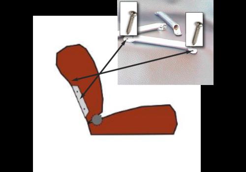 Armação lateral [2x] para inserção do encosto de cabeça em metal cromado modelo largo Citroën ID/DS