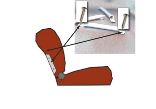 ID/DS Side socket [2x] for insertion of wide head rest chromed metal Citroën ID/DS