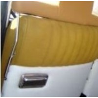 thumb-Side socket [2x] for insertion of wide head rest chromed metal Citroën ID/DS-4