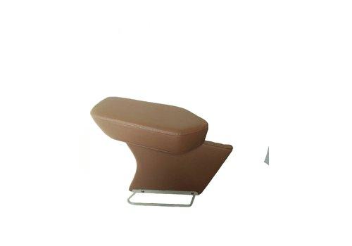 Apoio central para braço completo com revestimento em couro marrom Citroën ID/DS