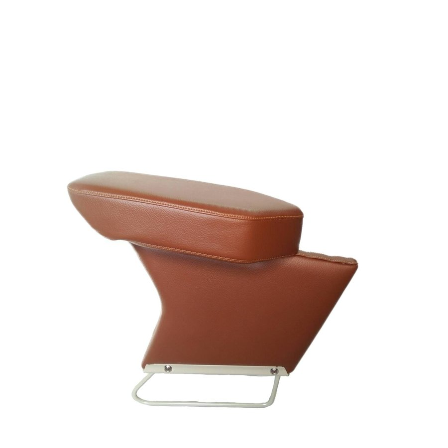 Central armrest brown leatherette Citroën ID/DS-2