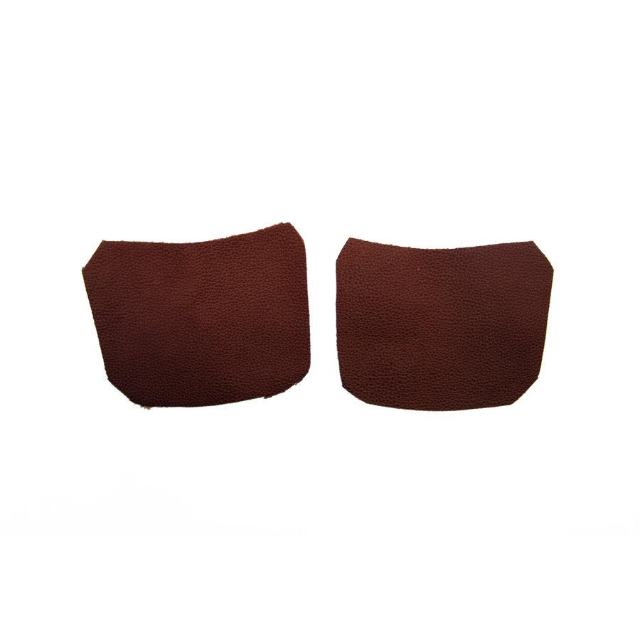 Garniture inférieure du pied du milieu D+G en cuir marron Citroën ID/DS-2
