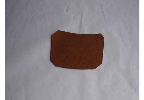 Centre pillar trimming lower part light brown leather L Citroën ID/DS