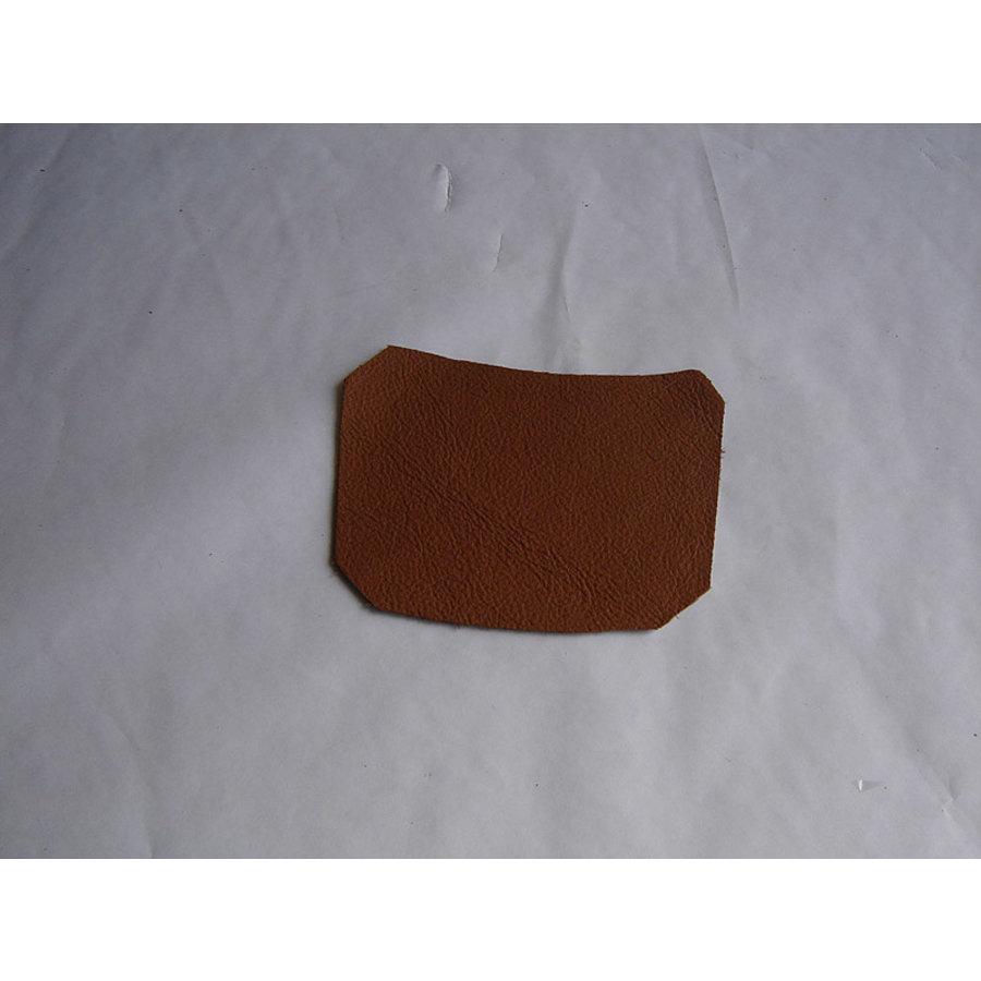 Garniture inférieure du pied du milieu G en cuir tabac Citroën ID/DS-1