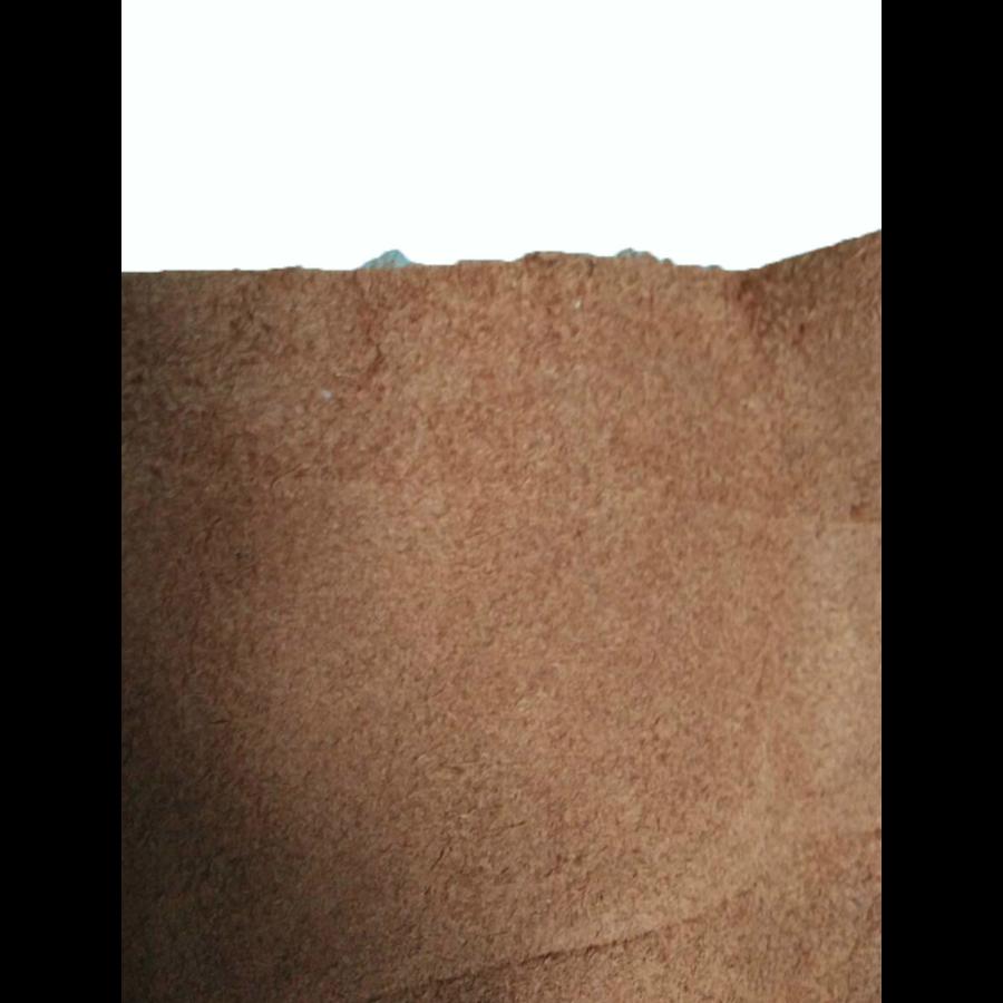Centre pillar trimming upper part light brown leather L Citroën ID/DS-10