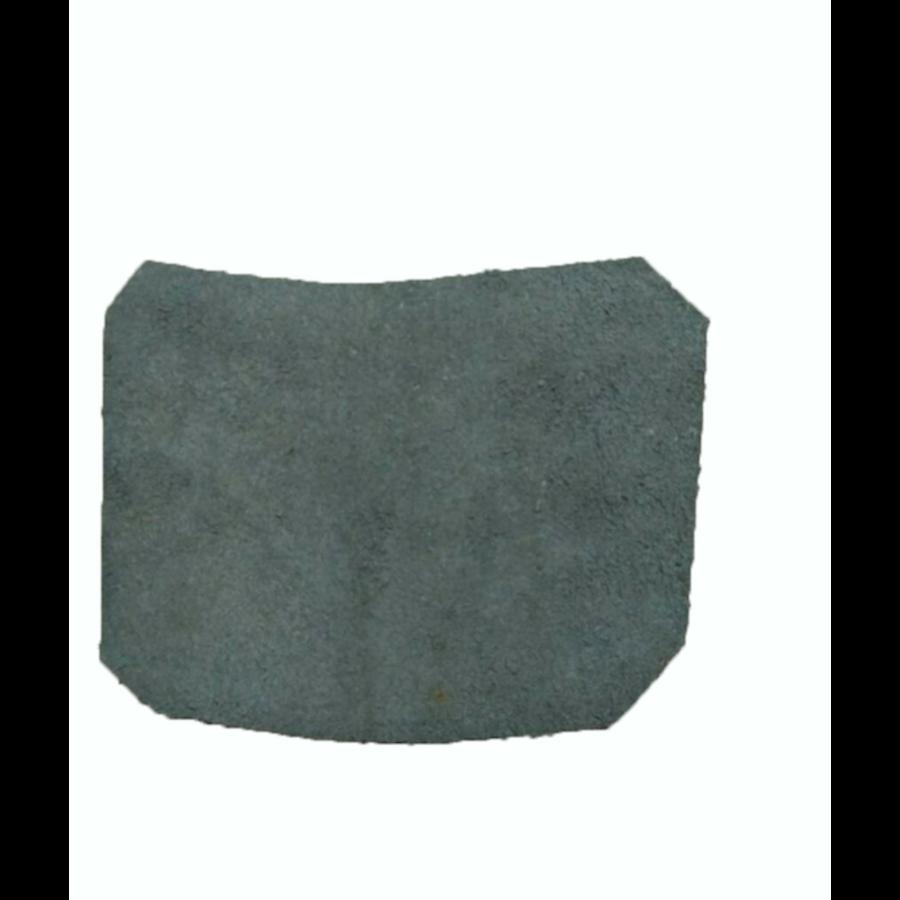 Garniture inférieure du pied du milieu D en cuir noir Citroën ID/DS-1