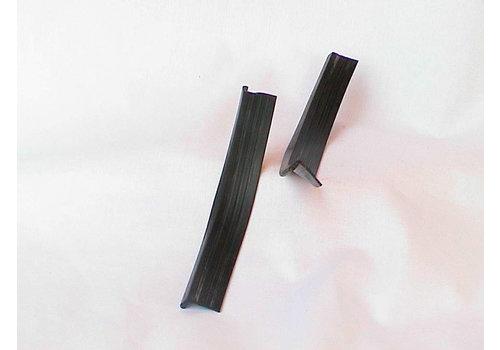 Jogo de borrachas de vedação em forma de `L` na extremidade do pára-lama dianteiro (1 x240 1 x190) Citroën ID/DS