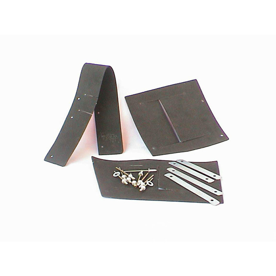 Set of rubbers for front fender 62-75 rivets and metal strips included Citroën ID/DS-1
